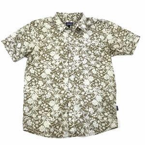Patagonia Floral Hawaiian Short Sleeve Shirt Sz M